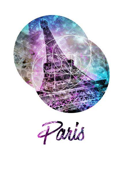 Pop Art Eiffelturm   Graphic Style   von Melanie Viola