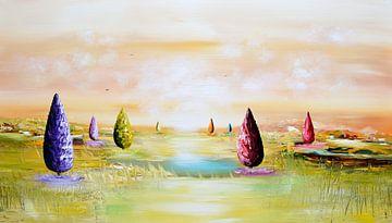 Landscape Fantasy  van Gena Theheartofart
