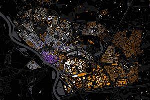 Kaart van Deventer abstract