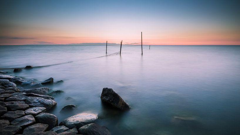 Sereen uitzicht op het IJsselmeer 4 van Bert Nijholt
