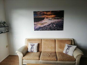 Kundenfoto: Herbststurm an der niederländischen Küste von Sander Poppe