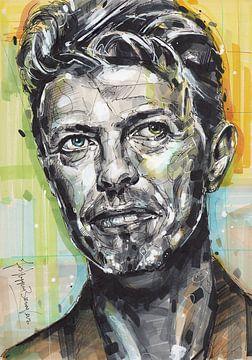 David Bowie portret van Jos Hoppenbrouwers