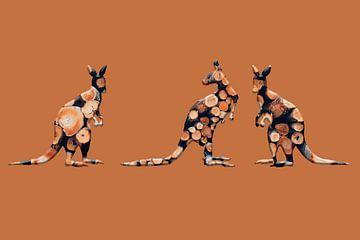 Känguru-Trio von Catherine Fortin
