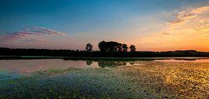 IJsselvallei zonsondergang van