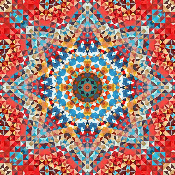 Triangle Art Mandala 2 von Marion Tenbergen