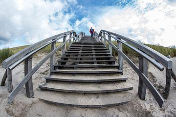 Trap strandopgang van Peter Heins