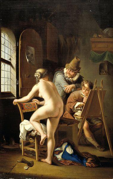 Der Maler und sein Model, Arnold Houbraken von Meesterlijcke Meesters