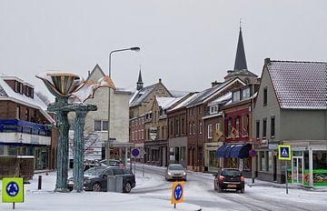 Centrum Simpelveld in de sneeuw von John Kreukniet