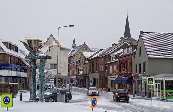 Centrum Simpelveld in de sneeuw