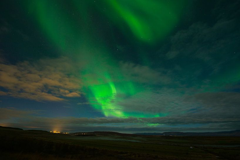 Noorderlicht IJsland van René Schotanus