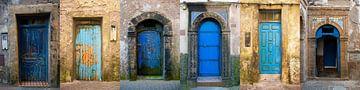 Marokkanische Türen Panorama von Mark Leek