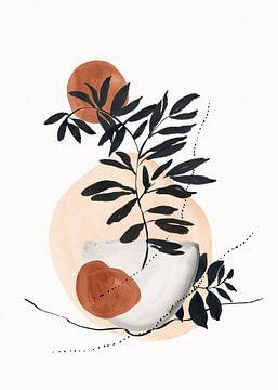 Wabi-sabi-Kunst mit abstrakten Formen von Diana van Tankeren