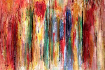 Abstracte acryl kunstfoto met vele kleuren van Stefan teddynash