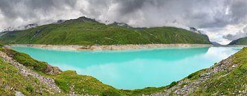 Panorama turquoise meer van Moiry Zwitserland von Dennis van de Water