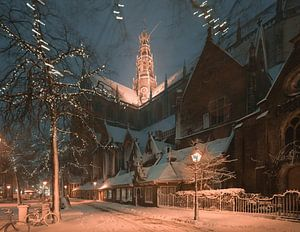 Haarlem: De Oude Groenmarkt.