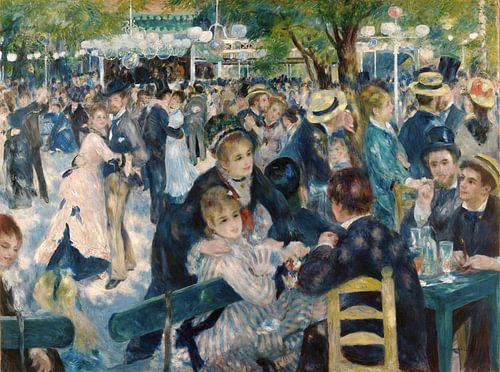 Bal du Moulin de la Galette van Pierre-Auguste Renoir van