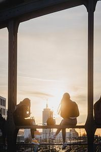 Zonsondergang op de Hackerbrücke van LUDWIGSTREET