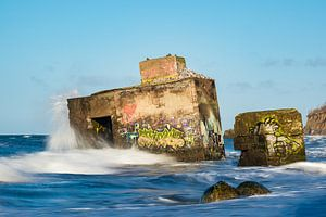 Bunker on shore of the Baltic Sea