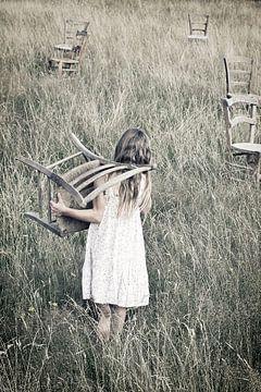 Petit fille sur Renate van der Heijden