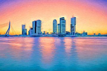 Full Color Rotterdam cityscape van eric van der eijk