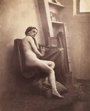Vrouwelijk Naakt in Studio, Franck-François-Genès Chauvassaignes - ca. 1857