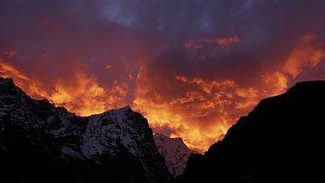 Himalaya in vlammen