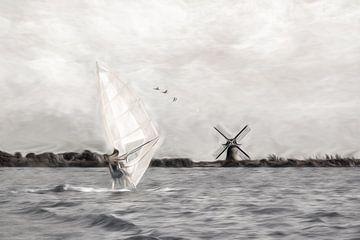 Windsurfen-2 von Dick Jeukens