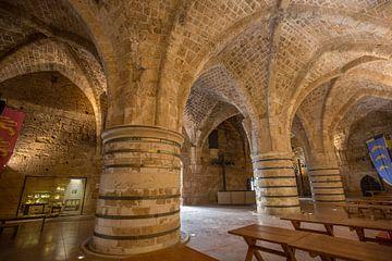 Untergeschoss der Templerburg in Accra, Israel von Joost Adriaanse