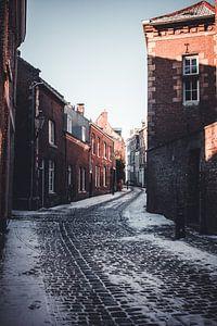 La rue de la table à Maastricht en hiver sur Floor Schreurs