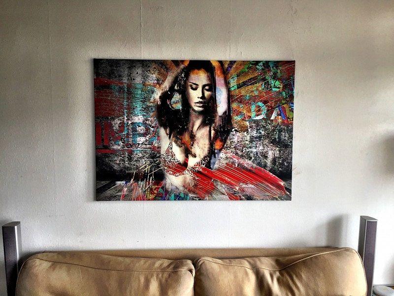 Klantfoto: Sexy en kleurrijk popart celebrity portret van Jerome Coppo