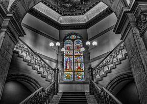 Glas in lood Academiegebouw.