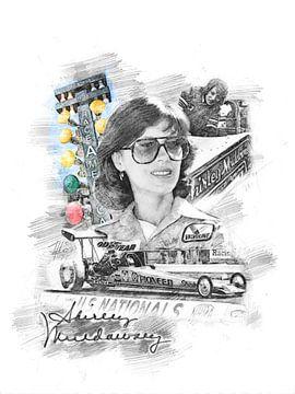 Shirley Muldowney_Portrait von Theodor Decker