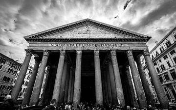 Panthéon, Rome Noir Blanc sur Danny Leij