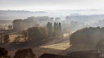 Nebel über dem Geul-Tal von Rob Boon