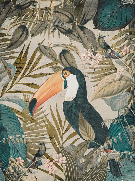 Exotic Toucan In Tropical Paradise van Andrea Haase