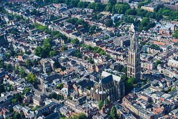 Luchtfoto binnenstad Utrecht van De Utrechtse Internet Courant (DUIC)
