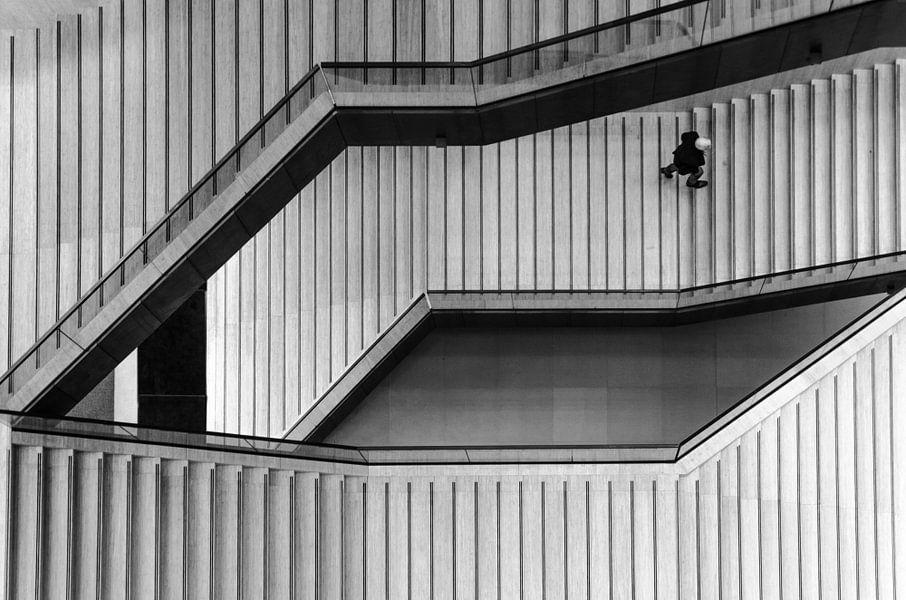 Abstracte fotografie in zwart wit van Renate Oskam
