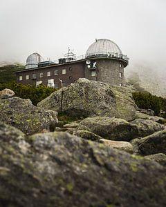 Observatorium in de bergen van Slowakije