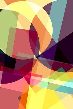 Kleurrijk vlakkenspel van Irene Damminga