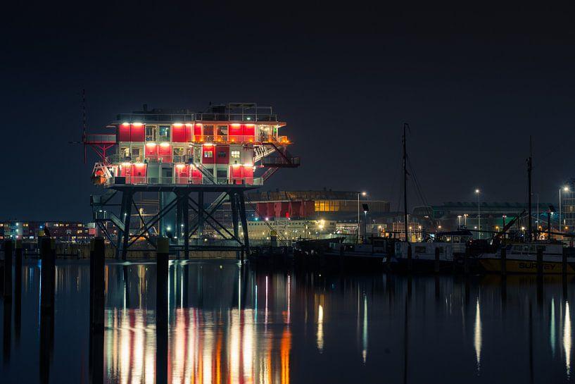 Nachtelijk Amsterdam van Martijn Kort