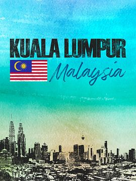 Kuala Lumpur Malaysia von Printed Artings