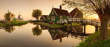 Openluchtmuseum Zaanse Schans bij zonsopgang, Nederland van Markus Lange