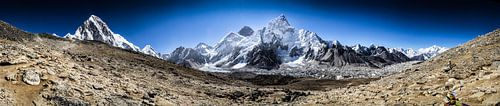 Mount Everest uitzicht Panorama Foto  Himalaya Nepal