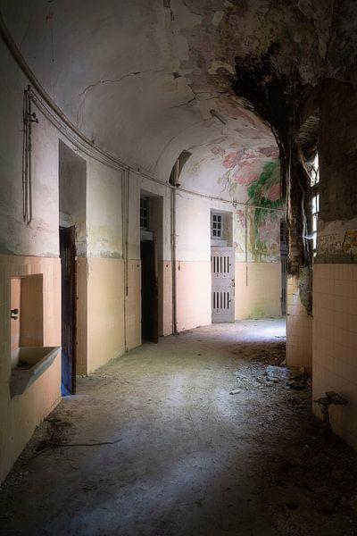 Verlaten Gang in Ziekenhuis. van Roman Robroek