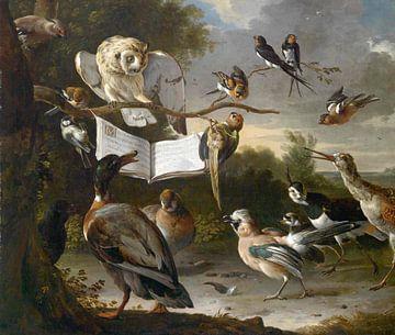 Vogelconcert, Melchior d'Hondecoeter sur
