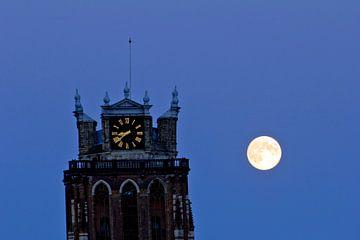 Grote Kerk en volle maan sur Jeroen van Alten