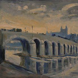 De Maasbrug in Maastricht van Nop Briex