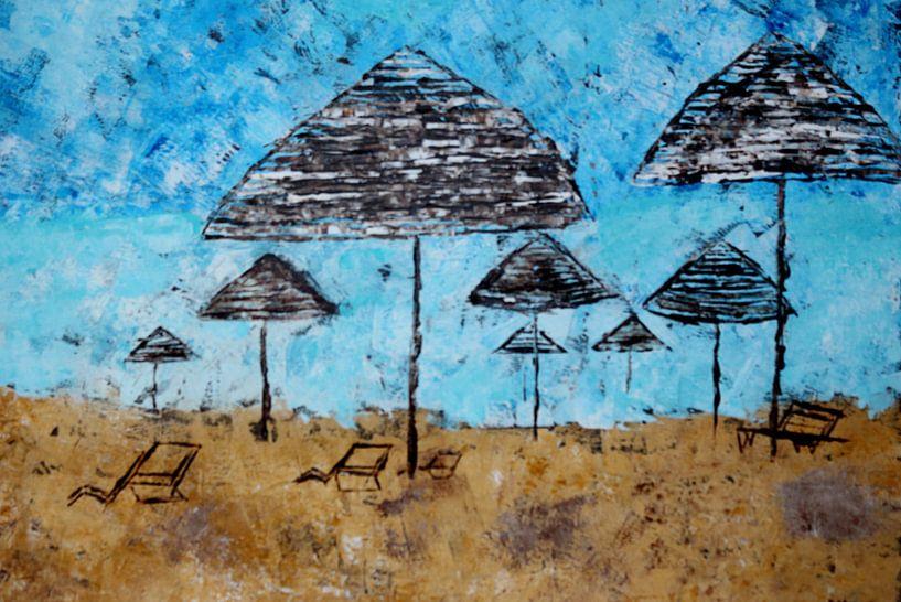 Stand am Toten Meer in Israel von Wilma Hage