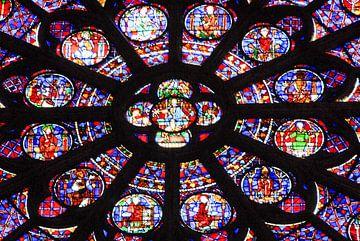 Glasmalerei, Notre Dame, Paris von Jan Fritz