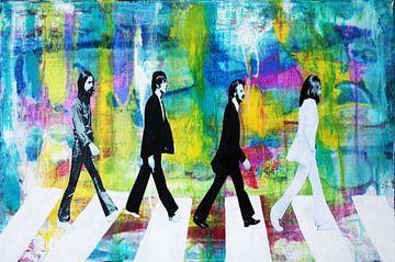 """De Beatles """"Colors Blue"""" van Kathleen Artist Fine Art"""